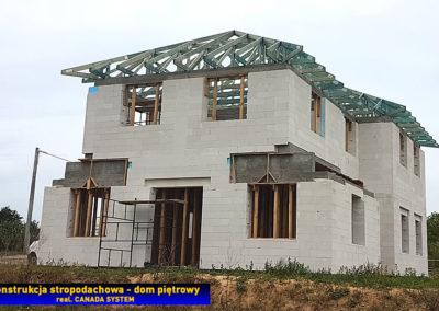 Stropodach na domu piętrowym
