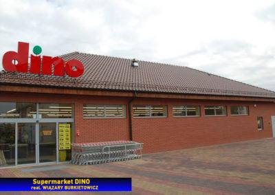 Dach supermarketu - konstrukcja wiązarowa