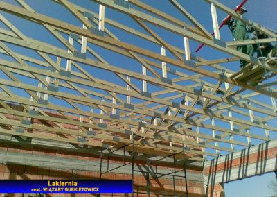Montaż stropodachu lakierni
